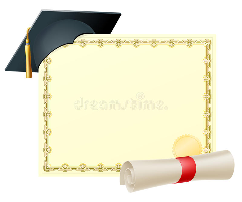 Graduate Certificate Background Stock Vector - Illustration of blank ...
