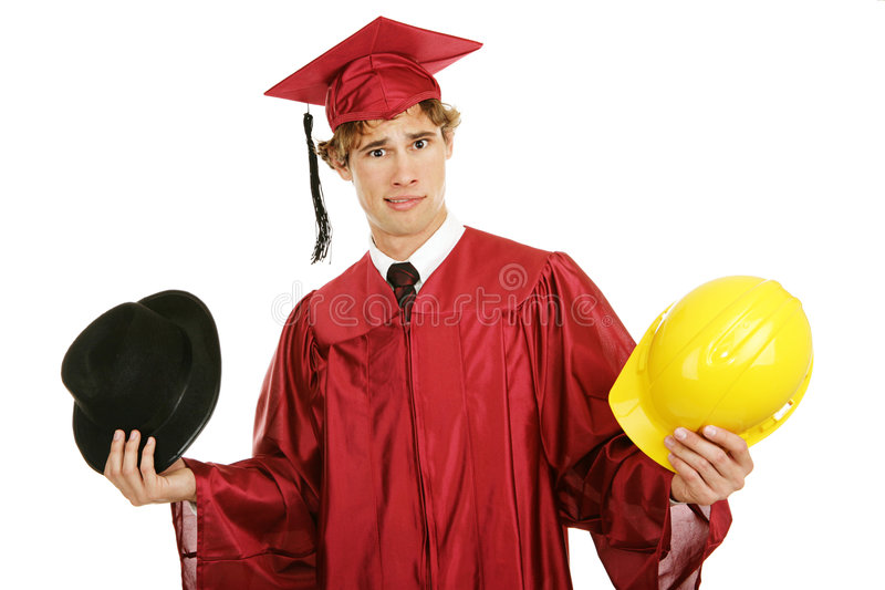Graduate - Confused by Career Choices royalty free stock images