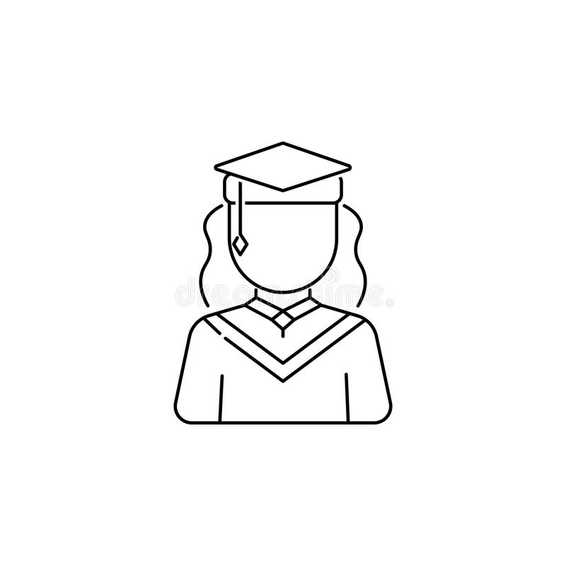 Graduate female avatars icon royalty free illustration