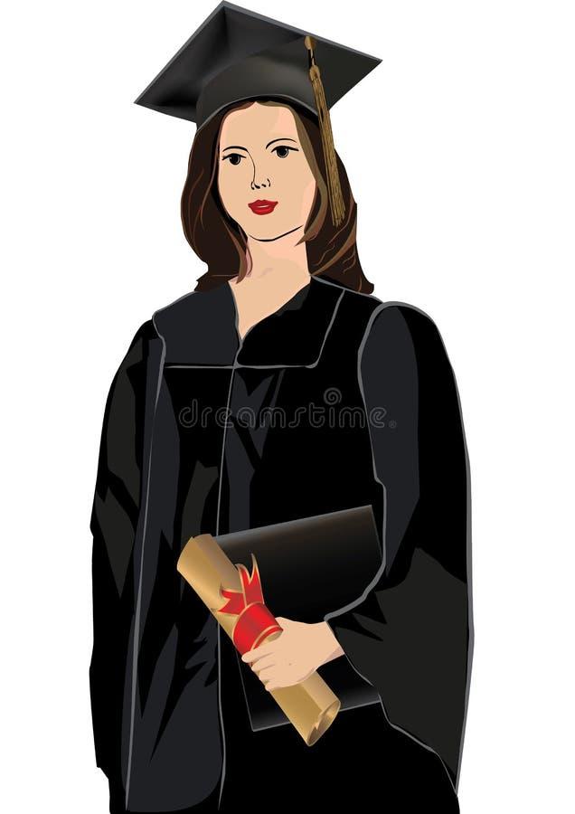 Download Graduate Girl Receiving Diploma Stock Illustration - Illustration of degree, graduate: 10625811