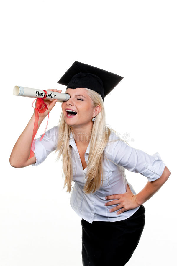Graduate Looking For Job Royalty Free Stock Image