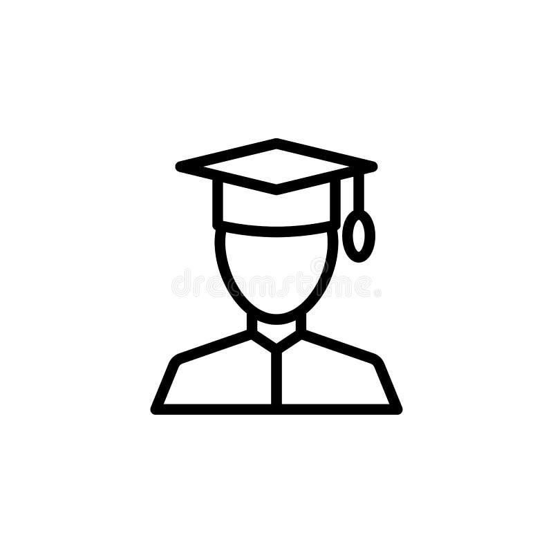 Graduate, man icon. Element of Education icon. Thin line icon vector illustration