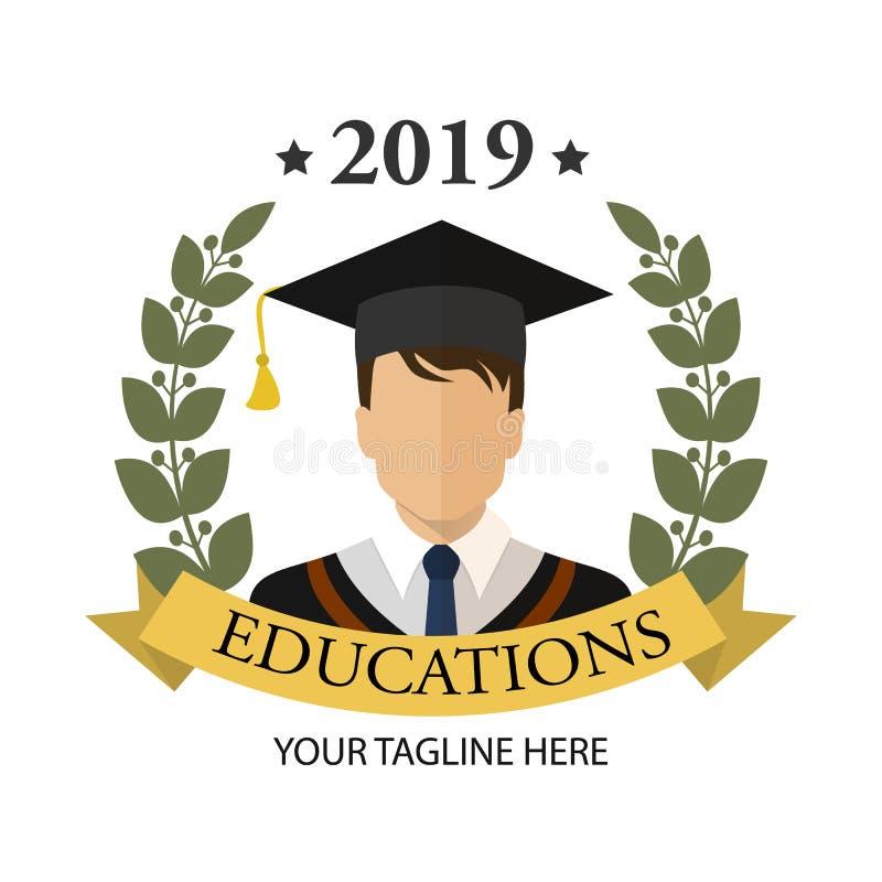 Graduate student icon. Flat isolated illustration of graduation for any web design royalty free illustration