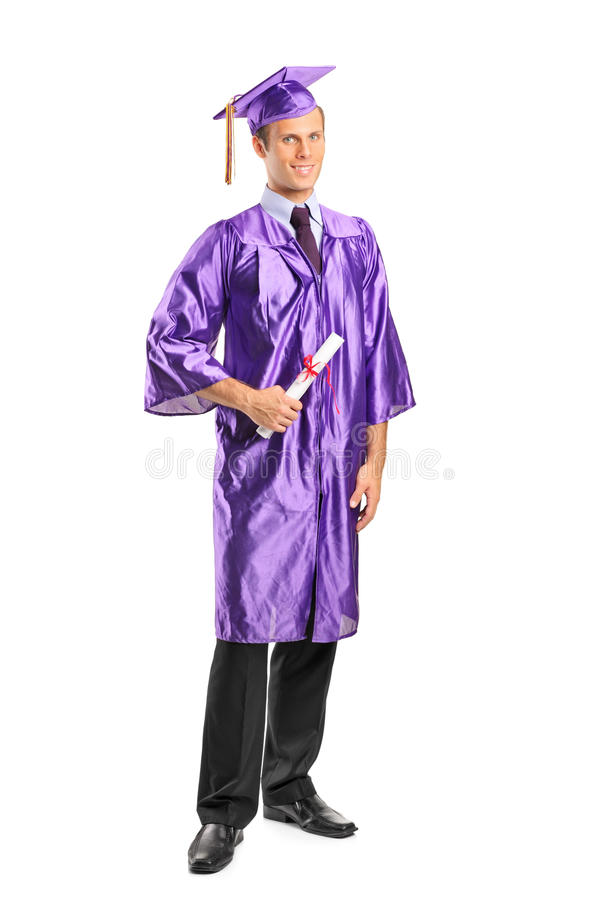 Download Graduate Student Holding A Diploma Stock Image - Image: 21187289