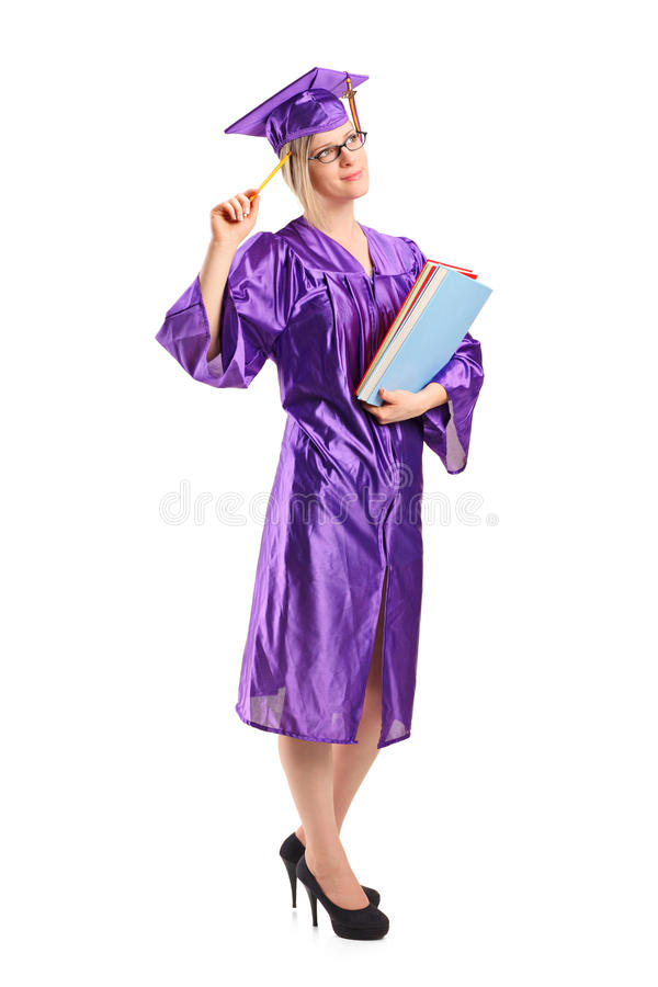 Download Graduate Student In Thoughts Holding A Book Stock Photo - Image of body, accomplishment: 20729440
