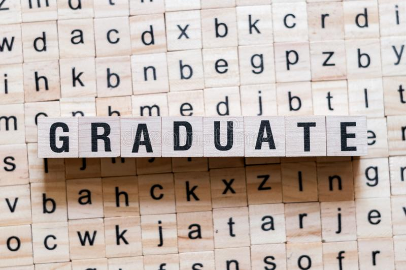 Graduate word concept stock photos