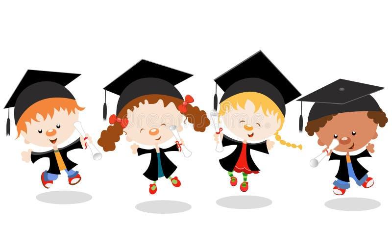 Graduated Kids royalty free illustration