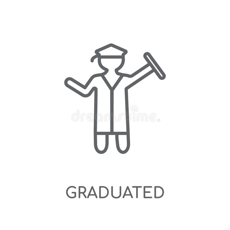 Graduated linear icon. Modern outline Graduated logo concept on royalty free illustration