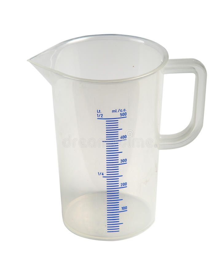 Graduated measuring cup stock images