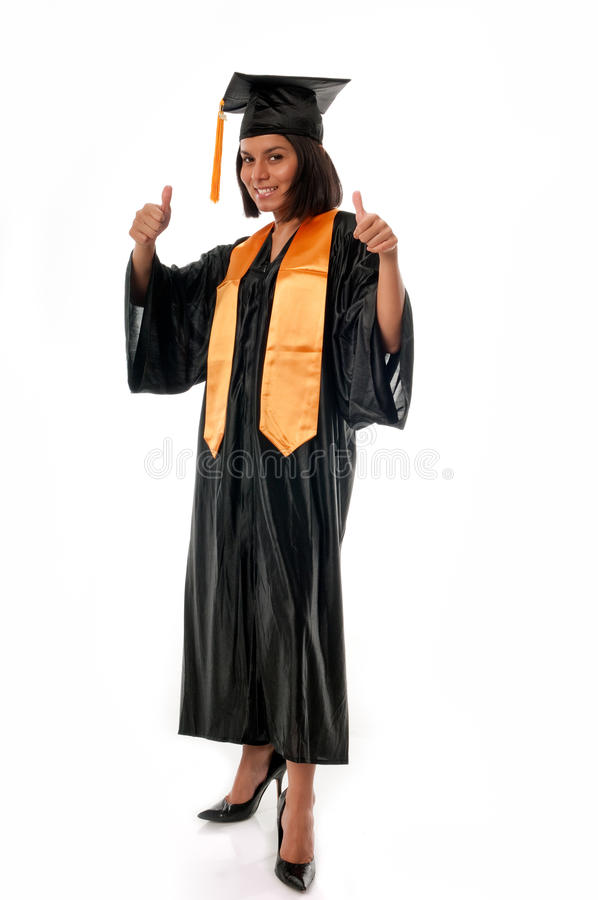 Download Graduated thumbs up stock photo. Image of graduates, grad - 14190468