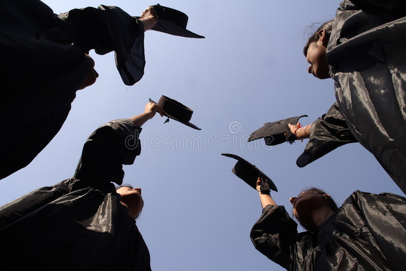 Download Graduates stock image. Image of girls, achievement, pride - 1263169