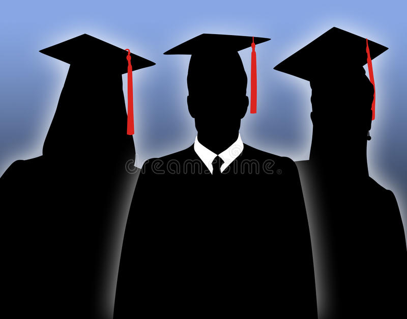 Download Graduates stock illustration. Image of robe, college - 18800045