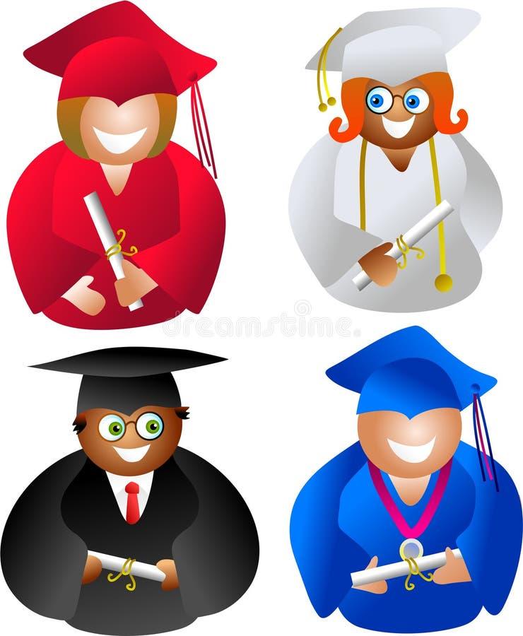 Graduates vector illustration