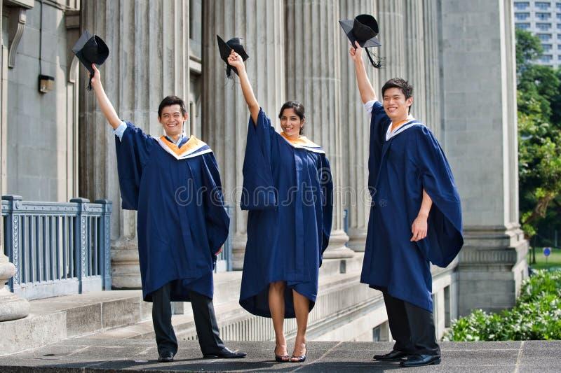 Graduates Hat Toss stock images