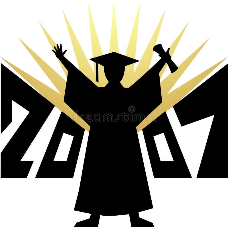 Download Graduatie 2007/eps vector illustratie. Afbeelding bestaande uit toga - 2200350