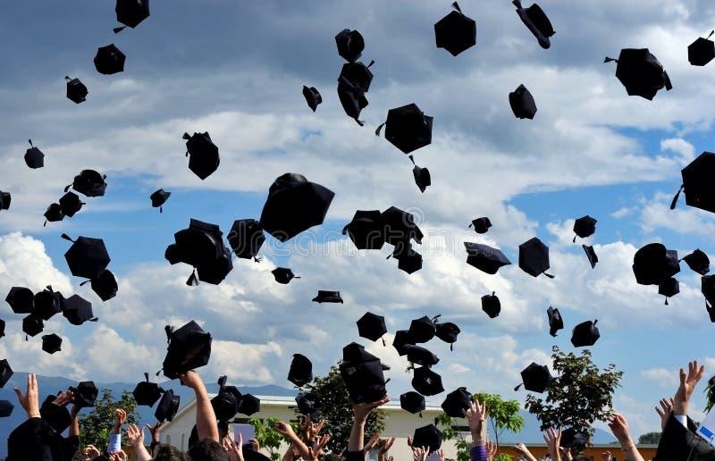 Graduatie! stock fotografie