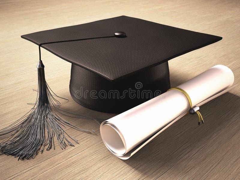 Graduatiedag royalty-vrije illustratie