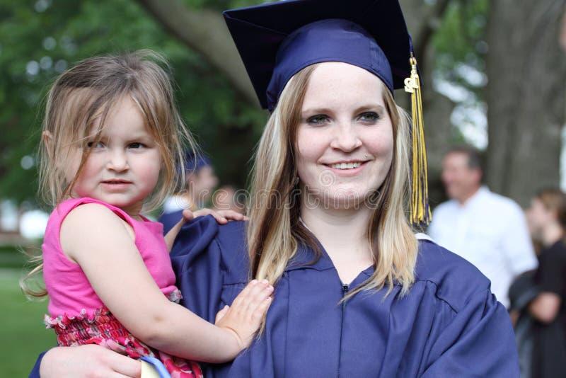 Graduatiedag stock foto's