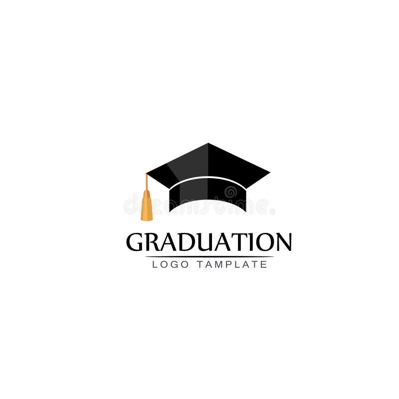 Graduatieglb embleem of pictogram Vector geïsoleerde illustratie stock illustratie