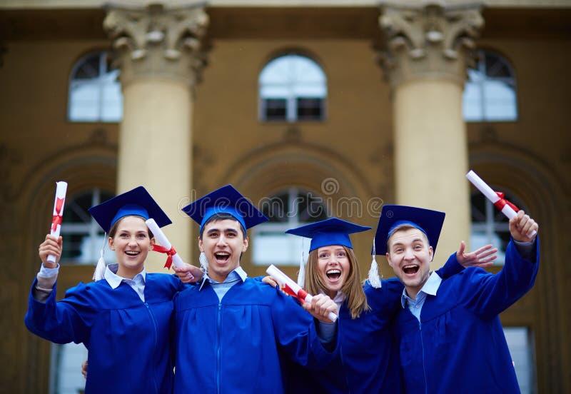 Graduatieopwinding stock fotografie