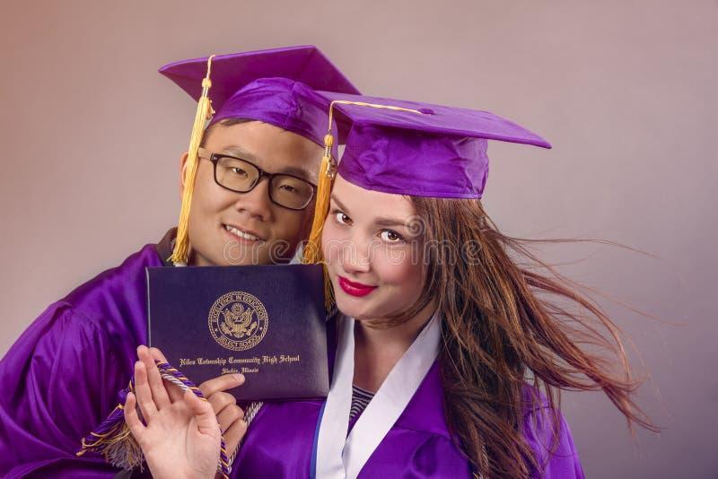 Graduatiepaar royalty-vrije stock afbeelding