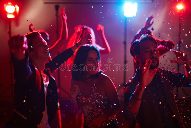 Graduatiepartij in club royalty-vrije stock fotografie