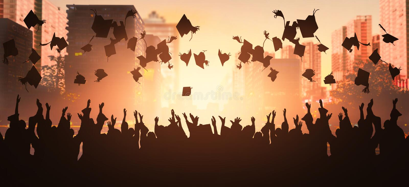 Graduatiestudent vector illustratie