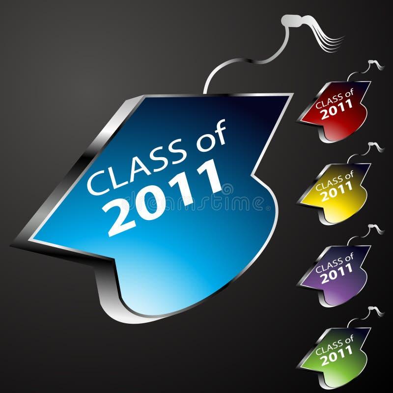 Download Graduating Class Cap Buttons Stock Photo - Image: 16411190