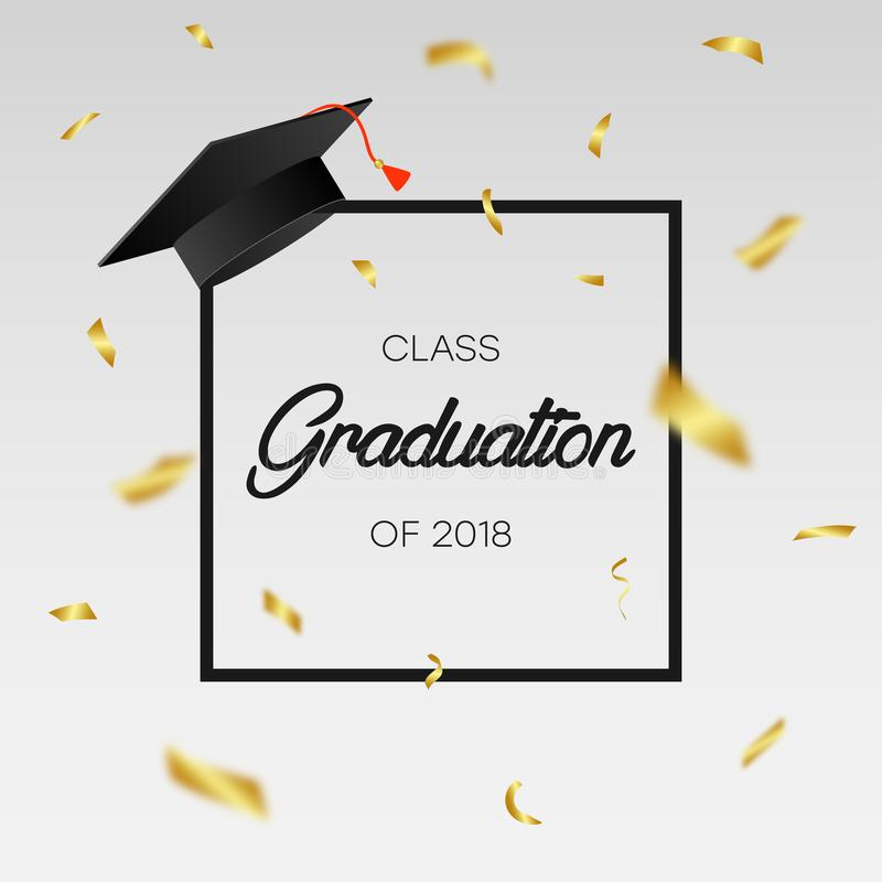 graduating class of 2018 template for card banner poster with