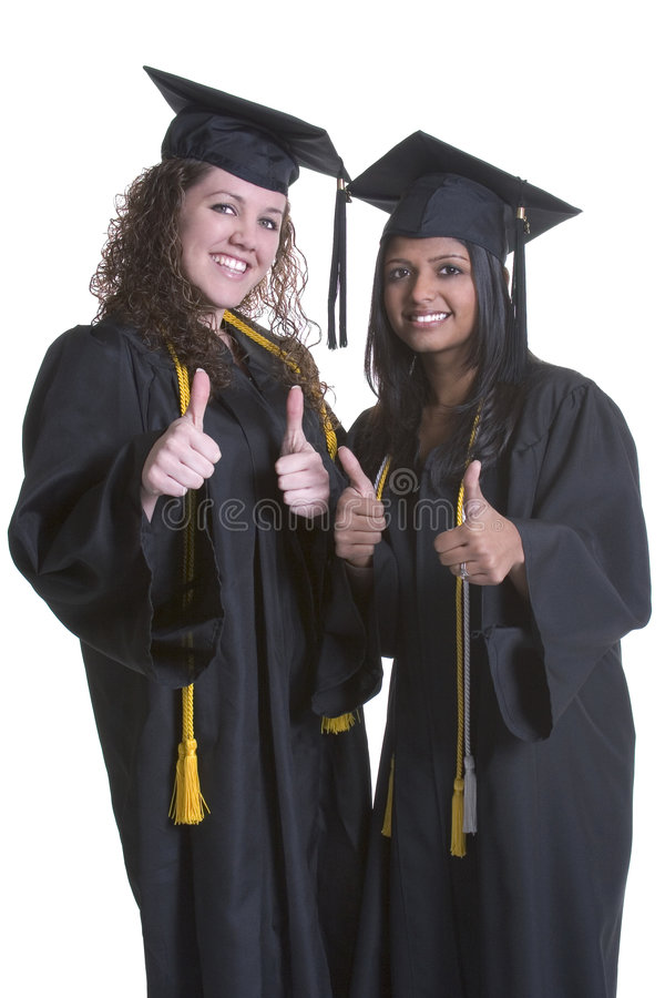 Graduating Girls royalty free stock photography