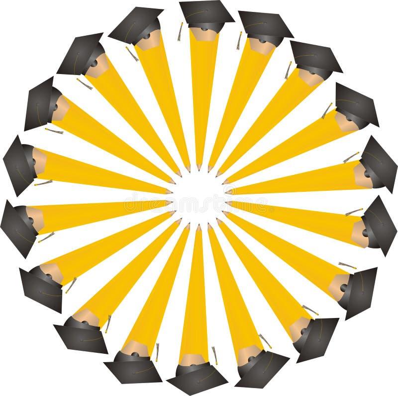 Graduating Pencils in a Circle