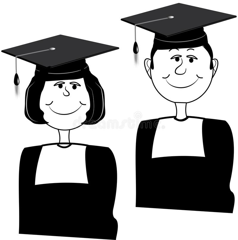 Download Graduating twins stock illustration. Image of college - 22865861