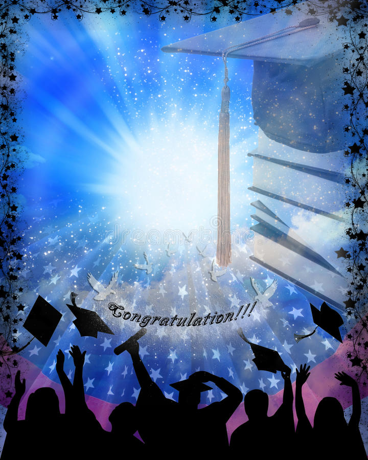 Download Graduation stock illustration. Image of cheerful, youth - 15215522