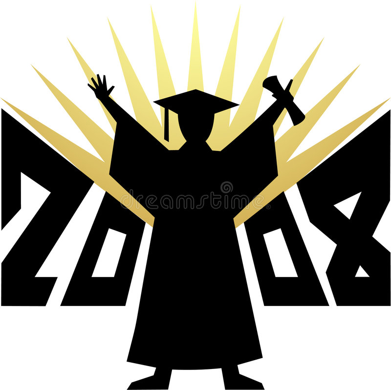 Download Graduation 2008/eps stock vector. Image of future, celebration - 3174489