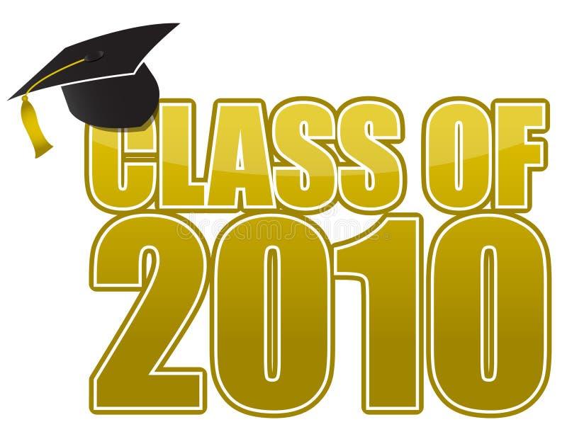 Graduation 2010 stock illustration