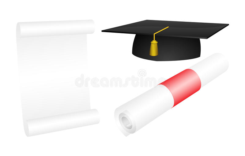 Graduation illustration stock