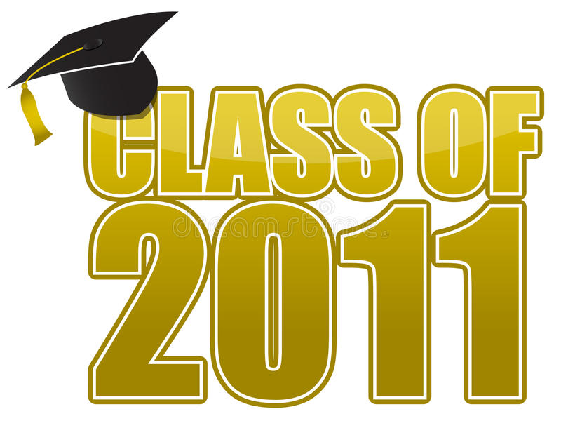 Graduation 2011 vector illustration