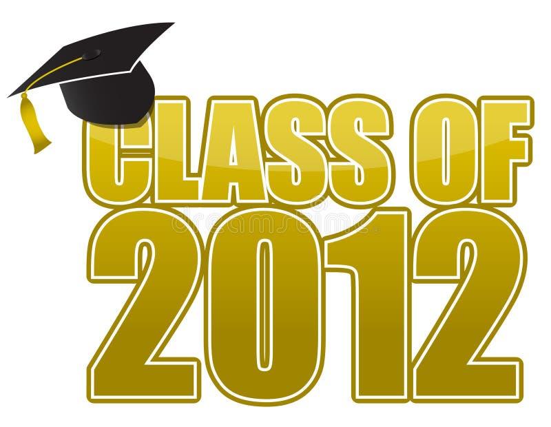 Graduation 2012. Cap isolated on white background stock illustration
