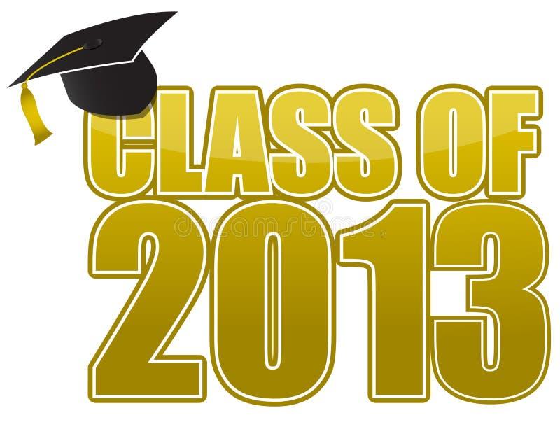 Graduation 2013 illustration de vecteur