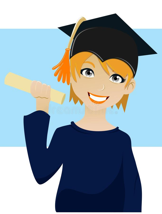 Download Graduation stock illustration. Image of graduate, face - 25361977