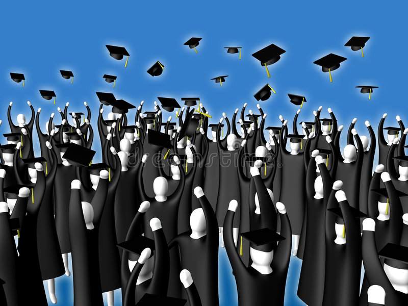 Download Graduation illustration stock. Illustration du degré, diplômé - 90649
