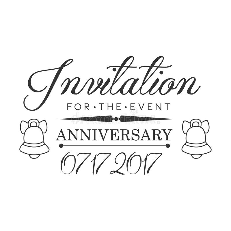 Graduation anniversary party black and white invitation card design download graduation anniversary party black and white invitation card design template with calligraphic text stock vector stopboris Image collections