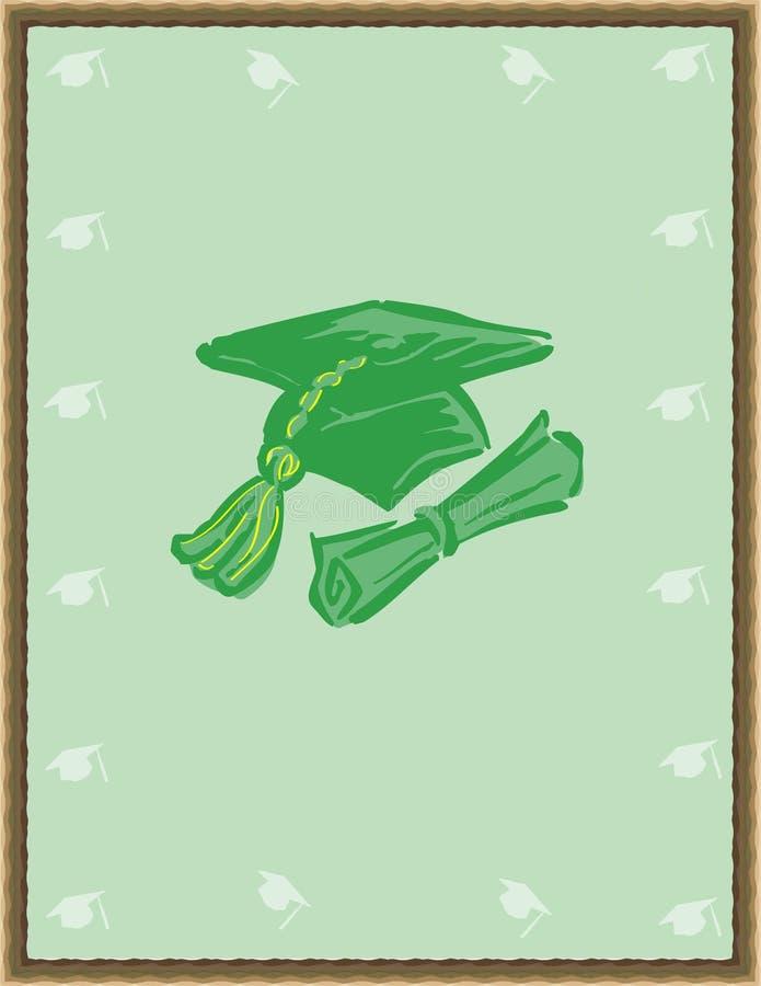 Graduation background royalty free illustration