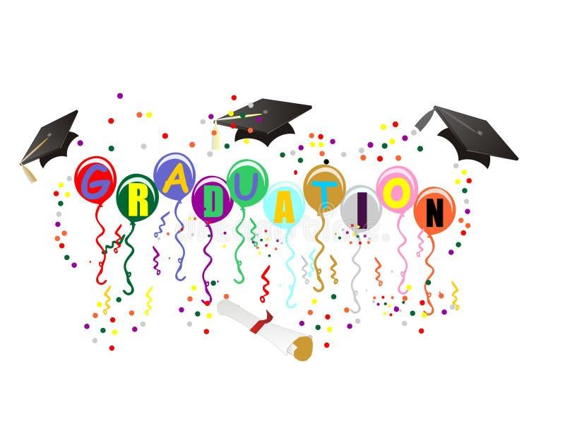 Graduation Ballons for celebration illustration vector illustration