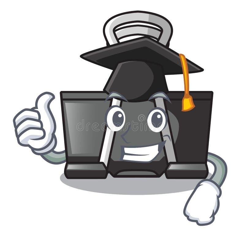 Graduation binder clip isolated on the cartoon. Vector illustration stock illustration