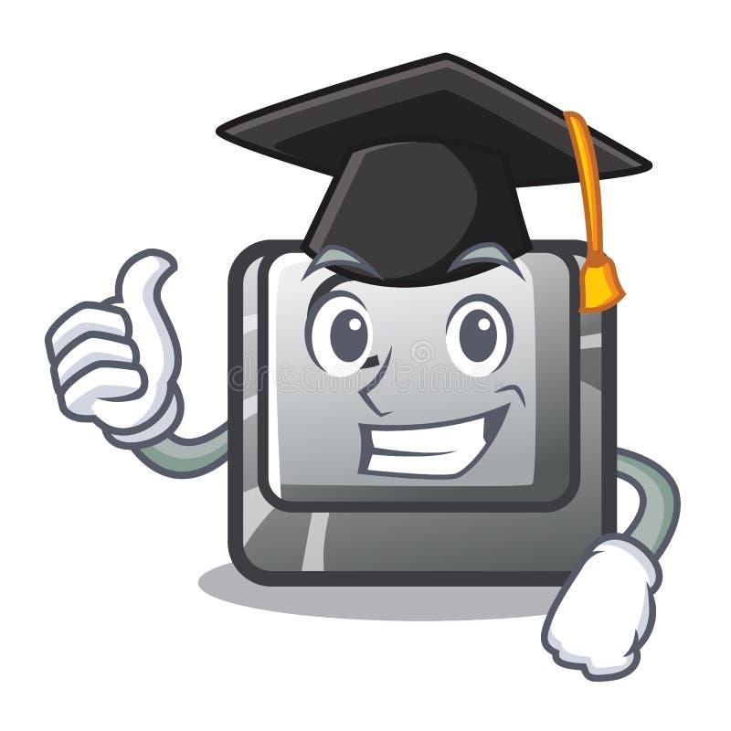 Graduation button C in the mascot shape. Vector illustration vector illustration