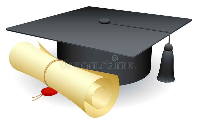 Graduation cap. royalty free illustration