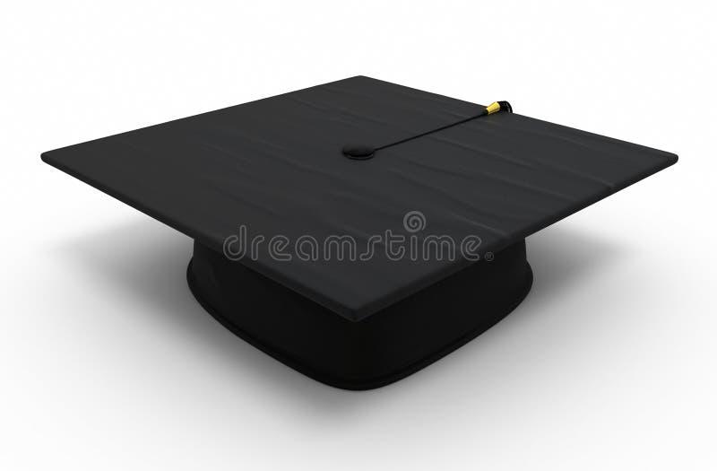 Graduation cap royalty free illustration
