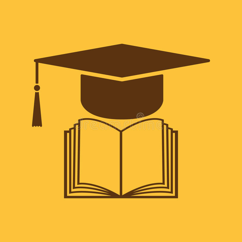 the graduation cap and book icon school and university