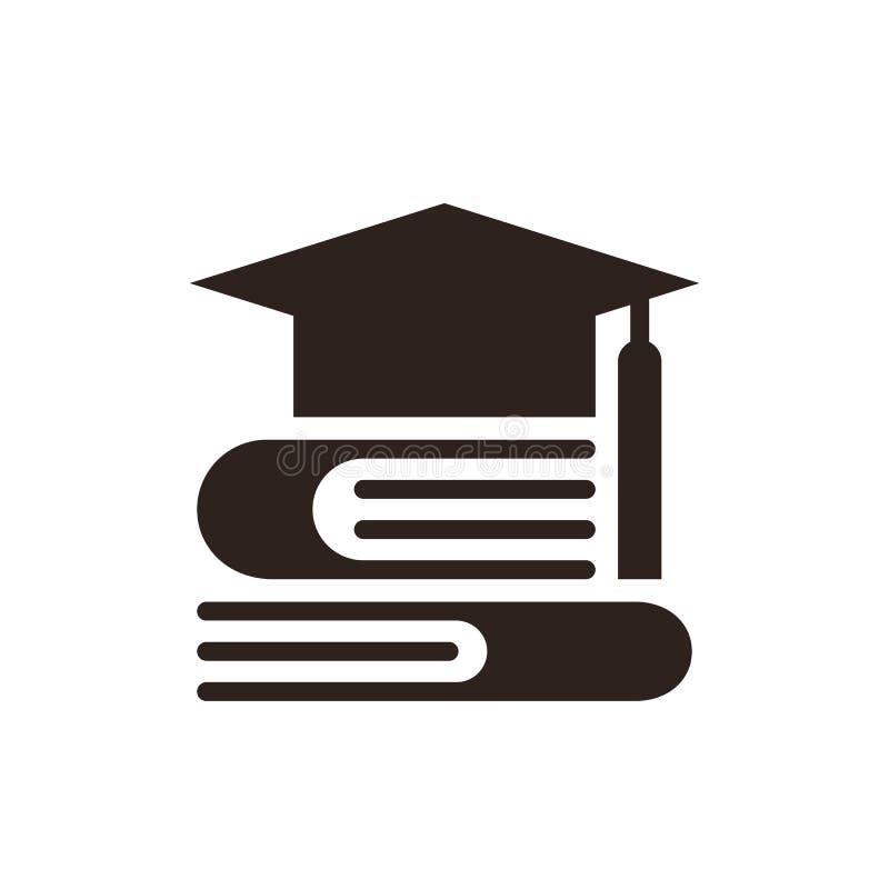 Graduation Cap And Books Education Symbol Stock Vector